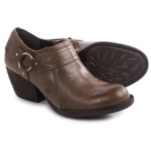 Born Peck Leather Shoes - Slip-Ons (For Women) in Taupe Full Grain - Closeouts