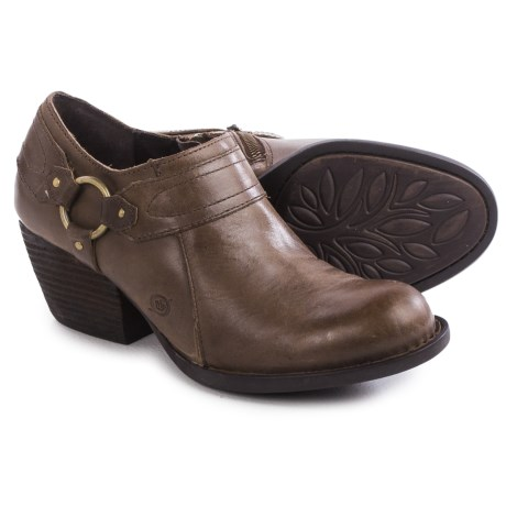 Born Peck Leather Shoes Slip Ons (For Women)