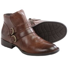 Born Pirlo Leather Ankle Boots (For Women) in Dark Tan Full Grain - Closeouts