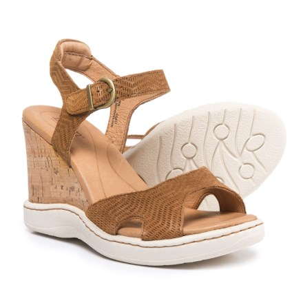 6bfec3e70e2c Born Puno Wedge Sandals - Suede (For Women) in Brown - Closeouts