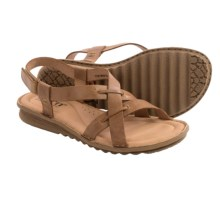 Born Rainey Leather Sandals (For Women) in Camel Full Grain - Closeouts