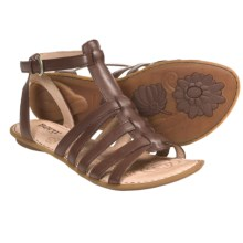 Born Saffron Gladiator Sandals - Leather (For Women) in Saddle Leather - Closeouts