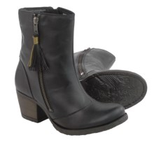 Born Salazar Leather Boots (For Women) in Black Full Grain - Closeouts