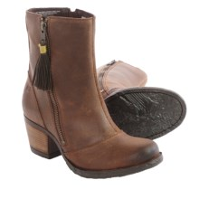 Born Salazar Leather Boots (For Women) in Cocoa Brown Distressed - Closeouts