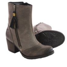Born Salazar Leather Boots (For Women) in Deep Grey Full Grain - Closeouts