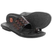 Born Salla Leather Sandals (For Women) in Black/Tan Combo - Closeouts
