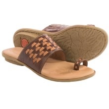 Born Salla Leather Sandals (For Women) in Brown/Tan Combo - Closeouts