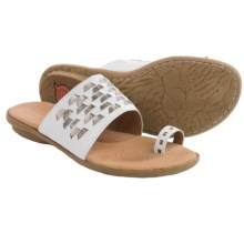 Born Salla Leather Sandals (For Women) in White/Pewter Combo - Closeouts