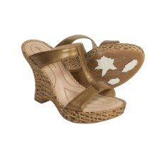 Born Sewell Sandals - Leather (For Women) in Gold Metallic - Closeouts
