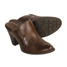 Born Sheila Clogs - Bison Leather (For Women) in Dark Brown - Closeouts