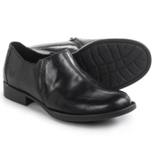 Born Silvie Shoes - Leather, Slip-Ons (For Women) in Black Full Grain - Closeouts