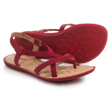 Born Taj Strappy Sandals - Leather (For Women) in Red Full Grain - Closeouts