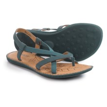 Born Taj Strappy Sandals - Leather (For Women) in Steel Full Grain - Closeouts