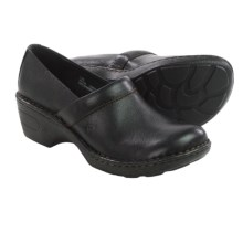 Born Toby Leather Clogs (For Women) in Black Full Grain - Closeouts