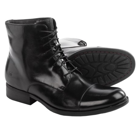 Born Tomas Leather Boots Cap Toe (For Men)