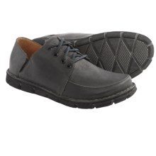 Born Tristen Leather Shoes (For Men) in Charcoal Embossed Full Grain - Closeouts