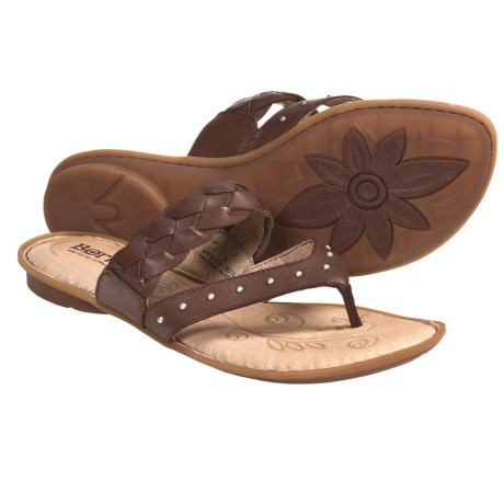Born Tyne Leather Sandals (For Women) in Rust Leather