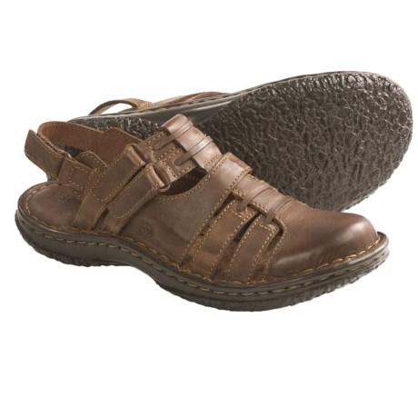 Born Verena Sandals - Leather (For Women) in Dark Brown Full Grain