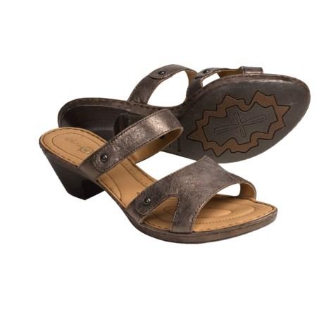 Born Via Leather Sandals (For Women) in Dark Brown Metallic