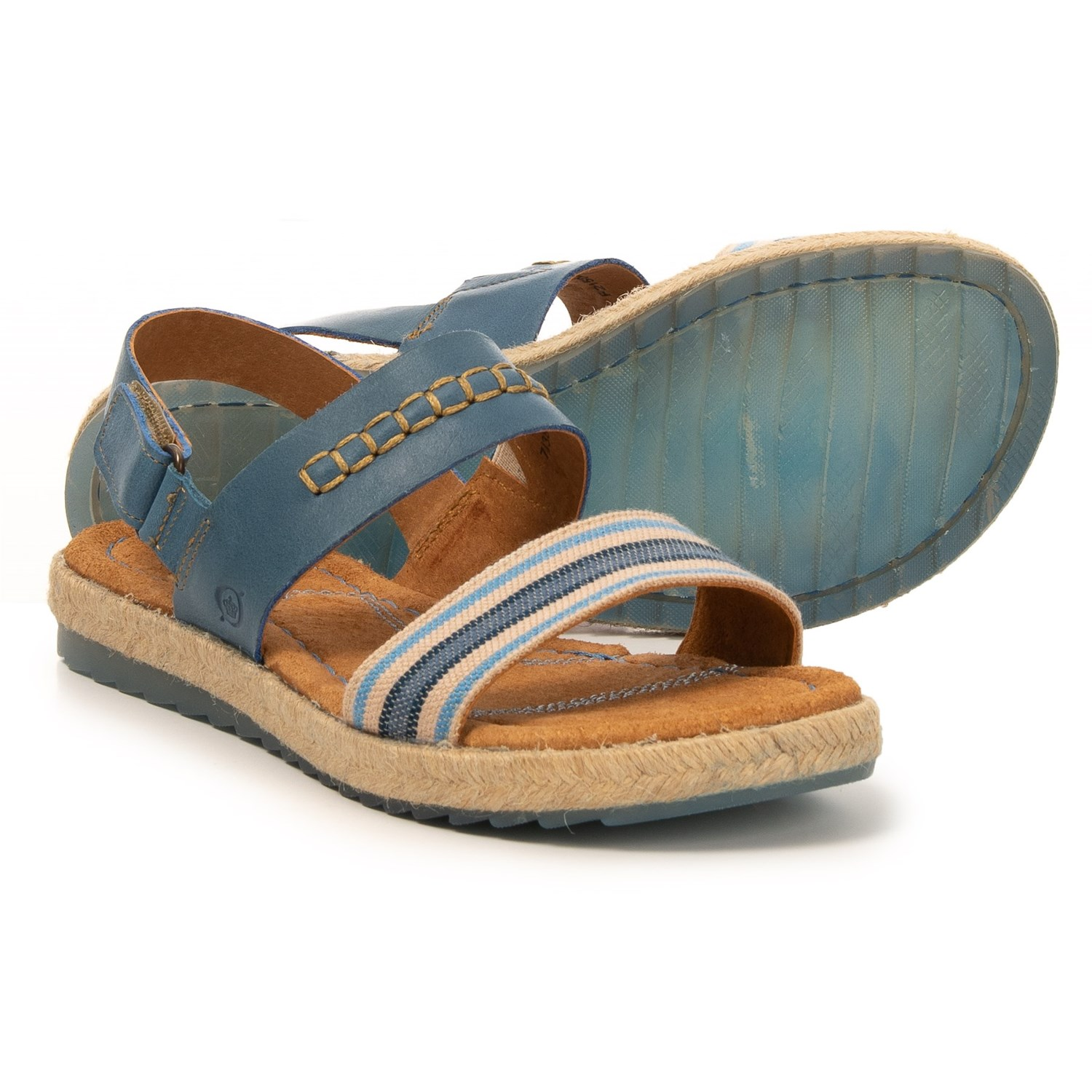 69394a675ab82 Born Vigan Striped Comfort Sling Sandal (For Women) in Blue Stripe ...