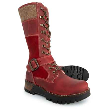 Bos. & Co. Made in Portugal Georgi Tall Boots - Waterproof (For Women) in Scarlet/Beige - Closeouts