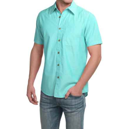 Boston Traders Chambray Shirt - Short Sleeve (For Men) in Green - Closeouts