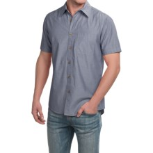 Boston Traders Chambray Shirt - Short Sleeve (For Men) in Navy - Closeouts