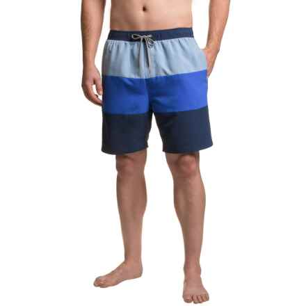 Boston Traders Color-Block Volley Swim Trunks - UPF 50+ (For Men) in Navy - Closeouts