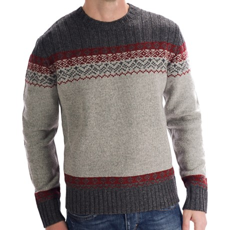Boston Traders Fair Isle Sweater (For Men) in Grey