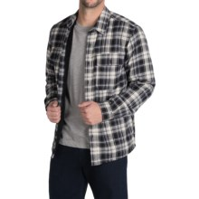 Boston Traders Flannel Shirt Jacket (For Men) in Black/White - Closeouts