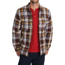 Boston Traders Flannel Shirt Jacket (For Men) in Brown/Gold - Closeouts