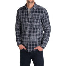 Boston Traders Flannel Shirt Jacket (For Men) in Navy/Black - Closeouts