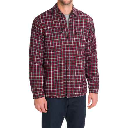 Boston Traders Flannel Shirt Jacket (For Men) in Red/Black - Closeouts