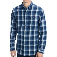 Boston Traders Flannel Shirt - Long Sleeve (For Men) in Dark Denim Blue - Closeouts