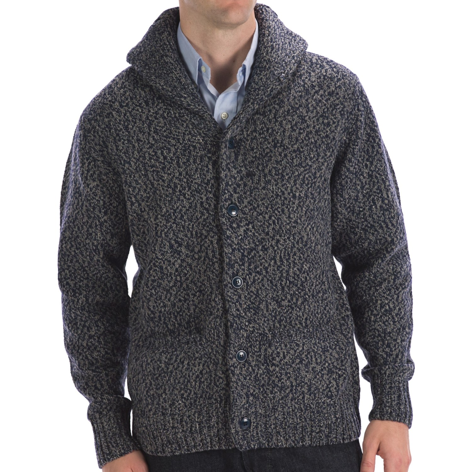 Wool Shawl Collar Mens Sweater 12