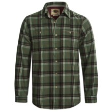 Boston Traders Plaid Shirt - Button-Down Collar, Flannel, Long Sleeve (For Men) in Green - Closeouts