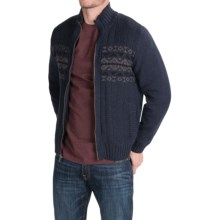 Boston Traders Sherpa-Lined Sweater - Full Zip (For Men) in Navy - Closeouts