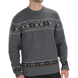 Boston Traders Snowflake Sweater - Wool Blend (For Men) in Charcoal