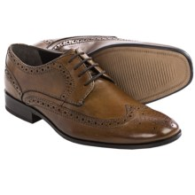 Bostonian Alito Oxford Shoes - Leather, Wingtip (For Men) in Tan - Closeouts