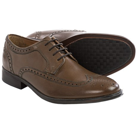 Bostonian Greer Wingtip Oxford Shoes Leather (For Men)