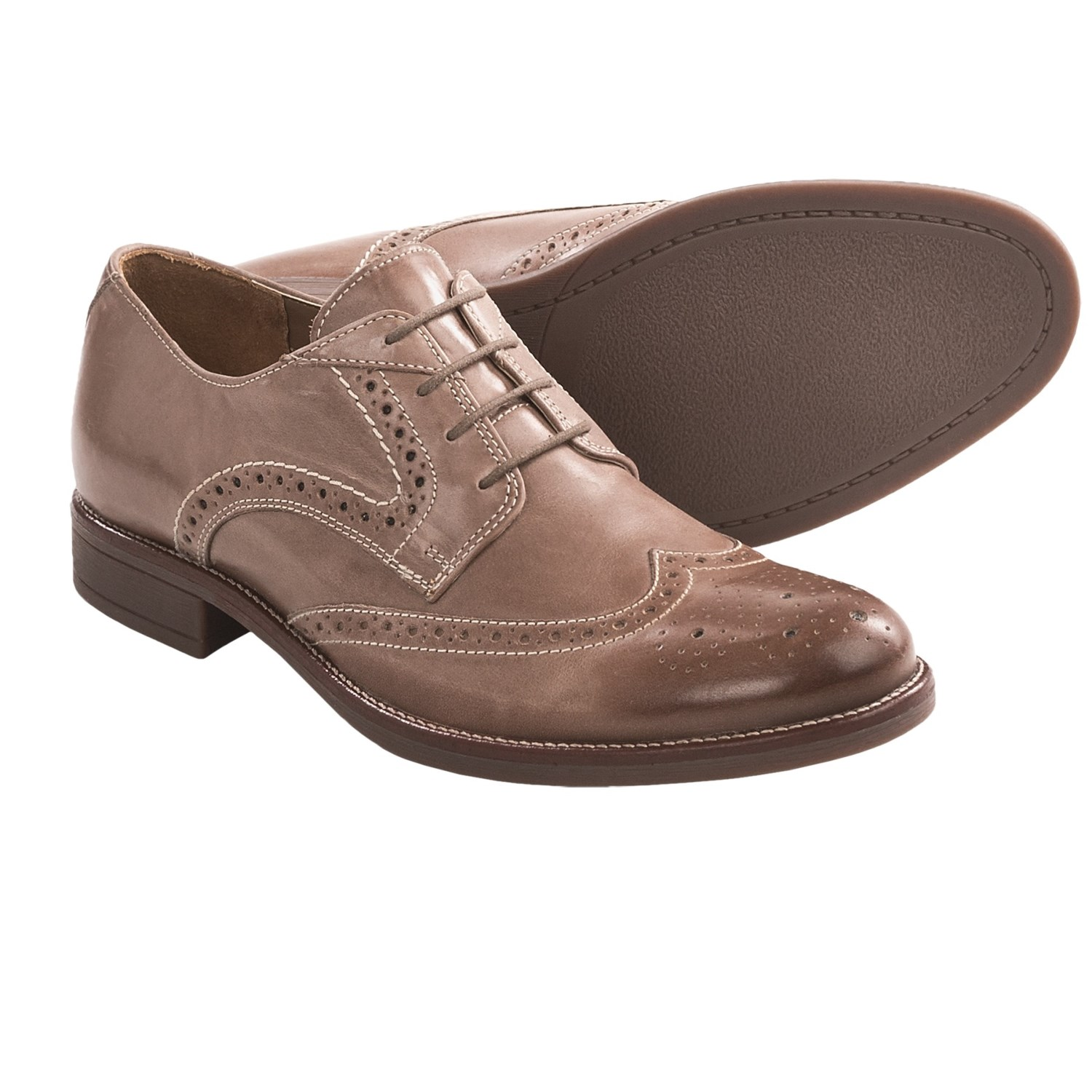 Bostonian Pavillion Wingtip Shoes - Oxfords, Leather (For Men) in Tan