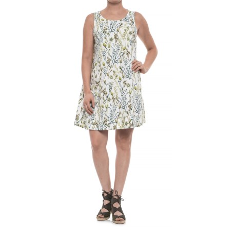 Botanical Linen Dress - Sleeveless (For Women)