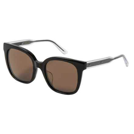 Bottega Veneta Fashion Round Sunglasses - Photochromic (For Women) in Shiny Dark Havana - Closeouts