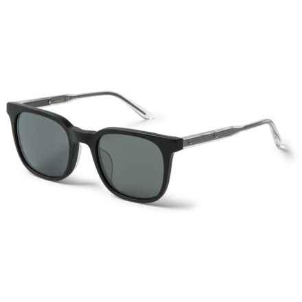 Bottega Veneta Wayfarer Sunglasses - Polarized (For Women) in Matte Black - Closeouts