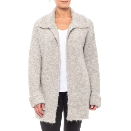 Image of Boucle Cardigan Sweater - Open Front (For Women)