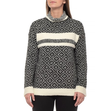 Image of Boucle Drop-Shoulder Sweater (For Women)