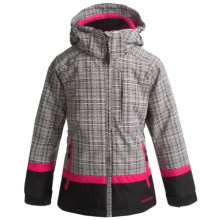 Boulder Gear Bliss Ski Jacket - Insulated (For Girls) in Talley Weave/Pink Shock - Closeouts