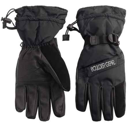 Boulder Gear Board Gloves - Waterproof, Insulated (For Men) in Black - Closeouts