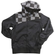 Boulder Gear Boiler Hooded Jacket - Fleece Backing (For Boys) in Checker Print/Black - Closeouts