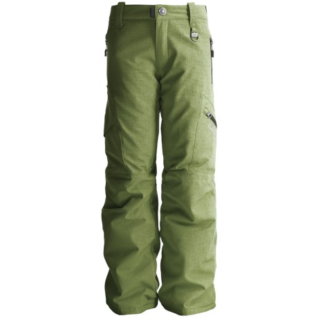 Boulder Gear Bolt Cargo Ski Pants - Insulated (For Boys) in Army Green/Black